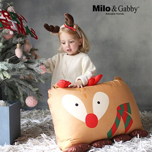 Milo & Gabby 動物好朋友-超細纖維防蟎大枕心+枕套組(聖誕限定 HOLLY麋鹿)
