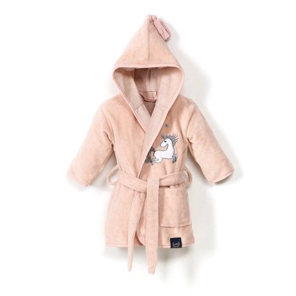 La Millou Jersey 時尚篷篷睡袍浴袍_標準6M-2.5Y- 公主獨角獸(夢幻珊瑚粉)