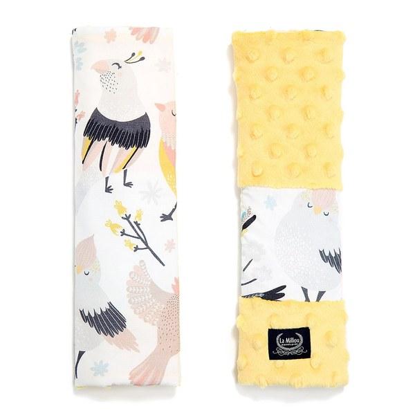 La Millou 安全帶保護套-可愛鳥語(清恬芒果黃)