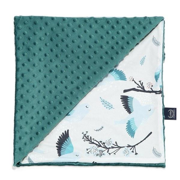 La Millou 單面巧柔豆豆毯-藍色雪鳥(藍綠愛琴海)