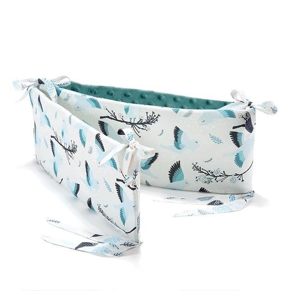 La Millou 拉米洛100%純棉床圍護欄-藍色雪鳥(藍色愛琴海)