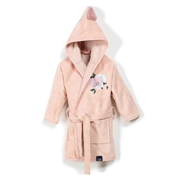 La Millou Jersey 時尚篷篷睡袍浴袍_加大2.5-5Y-格格牡丹花(夢幻珊瑚粉)