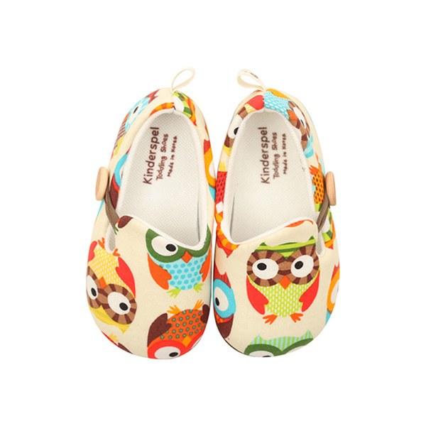 Kinderspel 設計師款‧寬頭柔軟學步鞋 (貓頭鷹大麻吉)