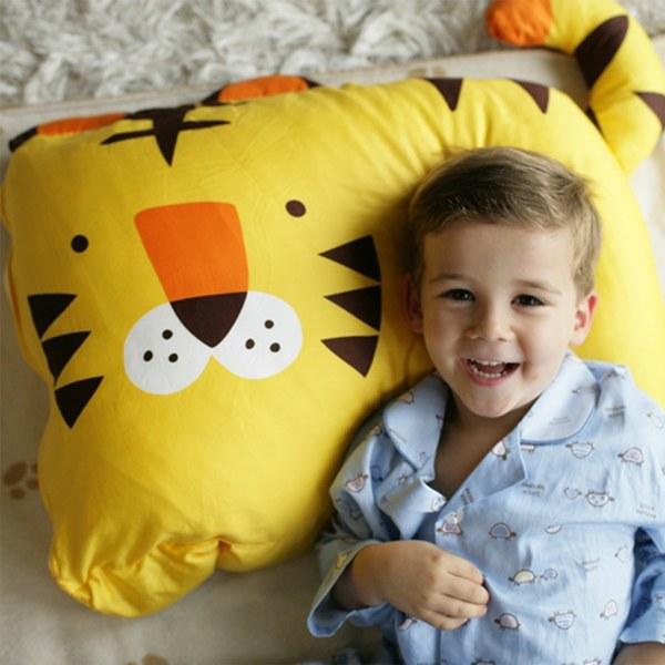 【此商品為預購品,於4/10起出貨】Milo & Gabby 動物好朋友-超細纖維防蟎大枕心+枕套組(TOM小虎)