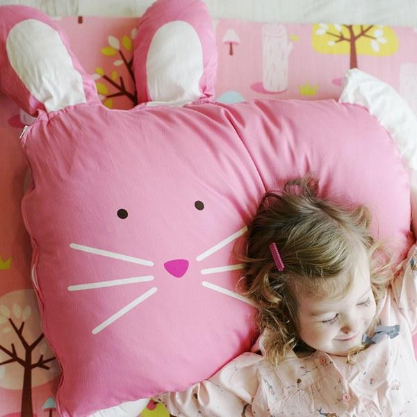 【此商品為預購品,於4/10起出貨】Milo & Gabby 動物好朋友-超細纖維防蟎大枕心+枕套組(LOLA兔兔)