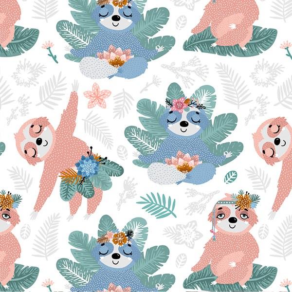 La Millou 竹纖涼感口水兜流蘇綁帶款-瑜珈珈樹懶