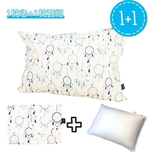 La Millou 拉米洛北歐風_標準枕頭套+枕心組-夢遊仙境白底