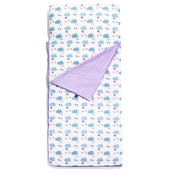 【隱藏品開賣】La Millou豆豆小童睡袋-雨點達達鴨(粉紫馬卡龍)