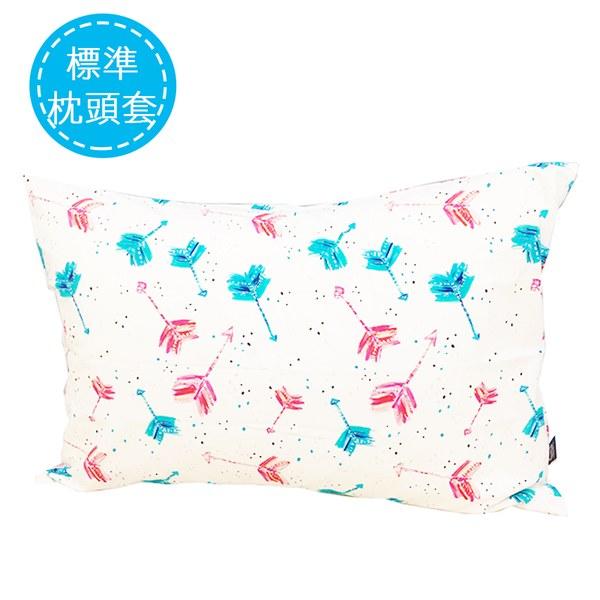 La Millou 拉米洛北歐風_標準枕頭套(50 x 70 cm)-丘比特之箭(炫彩)