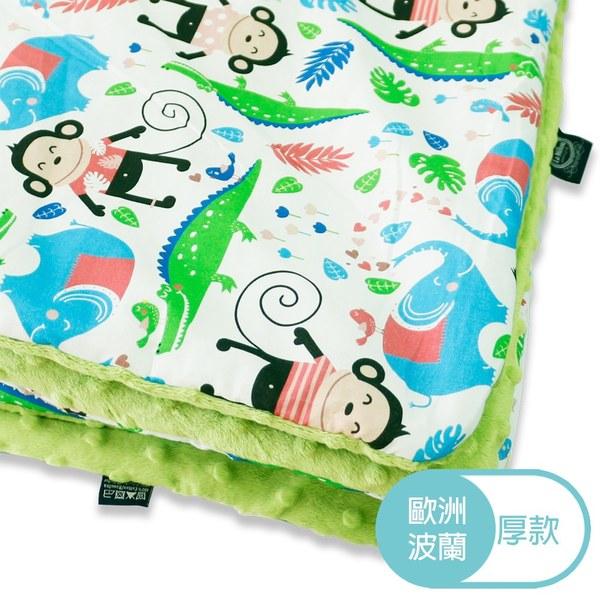 La Millou 暖膚豆豆毯(加大款)-歡樂拉拉猴(香草綠薄荷)