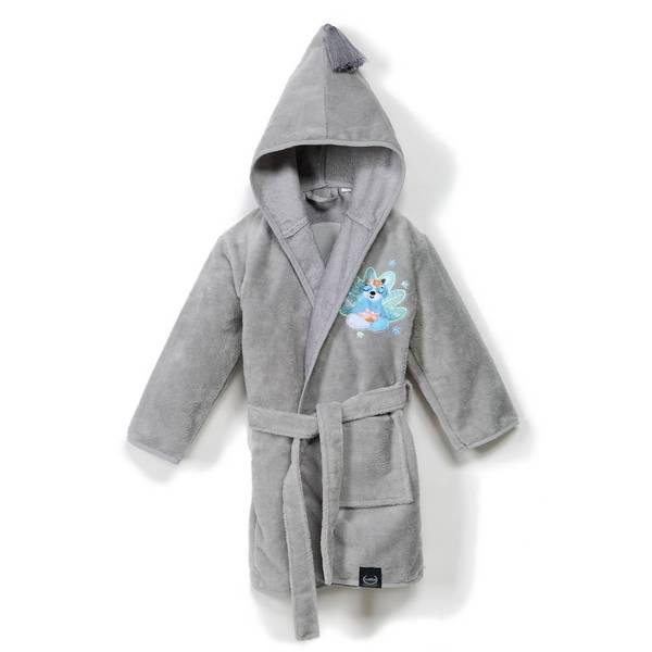 La Millou Jersey 時尚篷篷睡袍浴袍_加大2.5-5Y- 瑜珈珈樹懶(銀河星空灰)