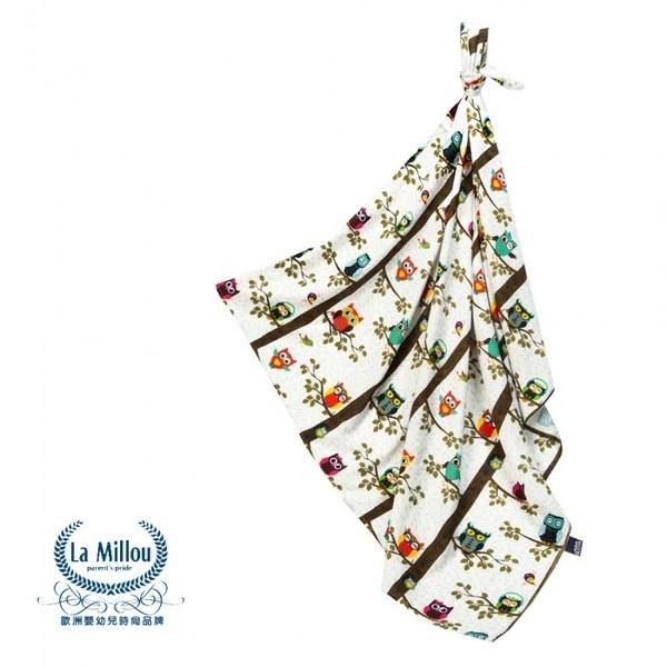 La Millou 包巾-竹纖涼感巾(樹屋貓頭鷹)