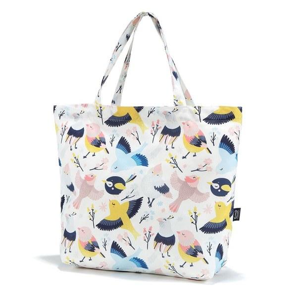 La Millou Feeria 多功能時尚媽媽購物袋-可愛鳥語