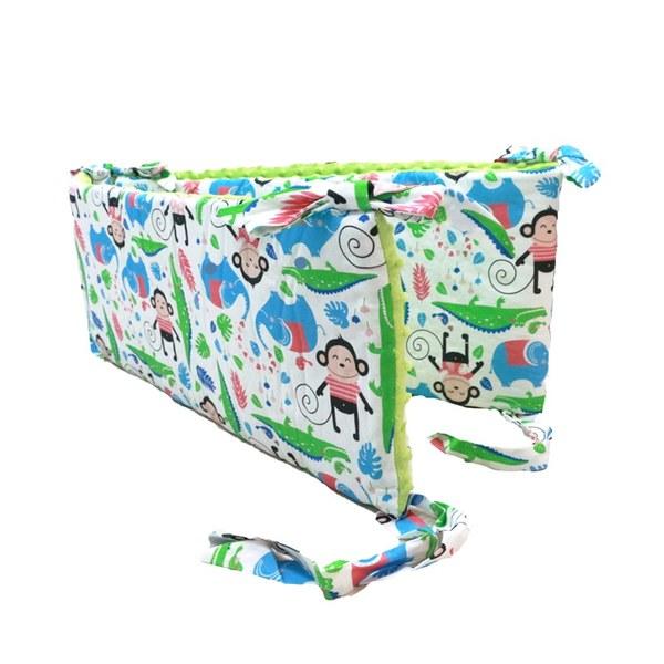 La Millou 拉米洛100%純棉床圍護欄-拉米洛床圍-歡樂拉拉猴(香草綠薄荷)