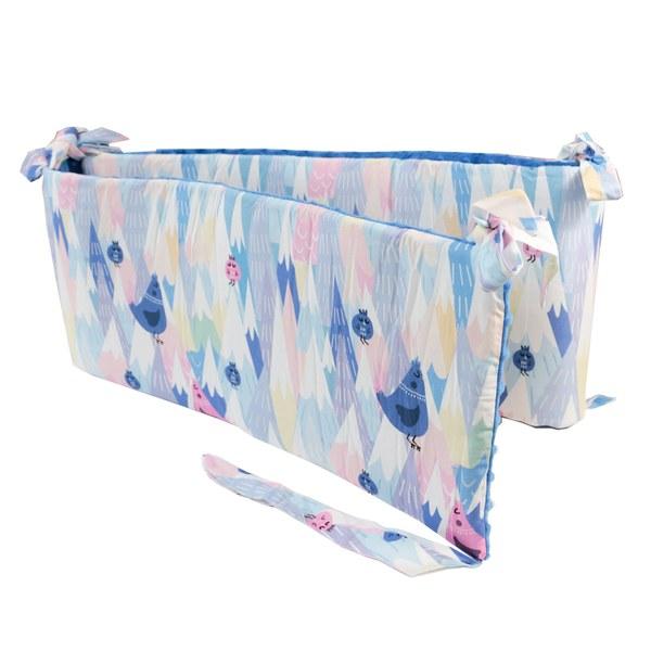 La Millou 拉米洛100%純棉床圍護欄-莓果咕咕雞(加勒比海藍)