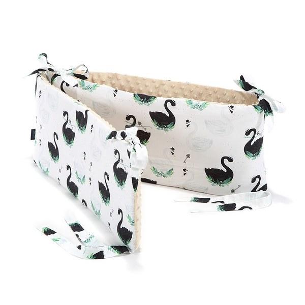 La Millou 拉米洛100%純棉床圍護欄-柴可夫天鵝(焦糖密斯朵)