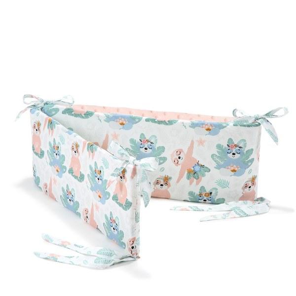 La Millou 拉米洛100%純棉床圍護欄-瑜珈珈樹懶(粉嫩氣質膚)