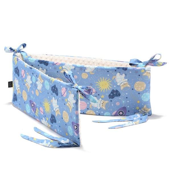 La Millou 拉米洛100%純棉床圍護欄-星空胖柯基(藍底)-雲朵白