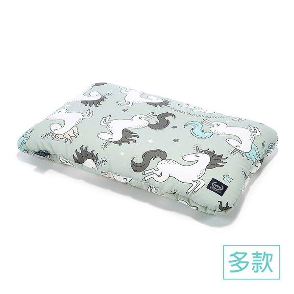 La Millou 竹纖涼感小童枕加大-30 cm x 50 cm -童話獨角獸(綠底)