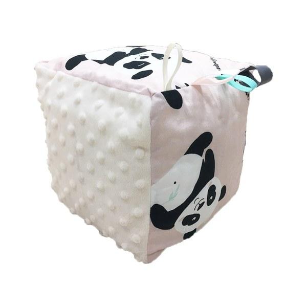 La Millou 五感標籤豆豆球-胖達功夫熊(雲朵白)
