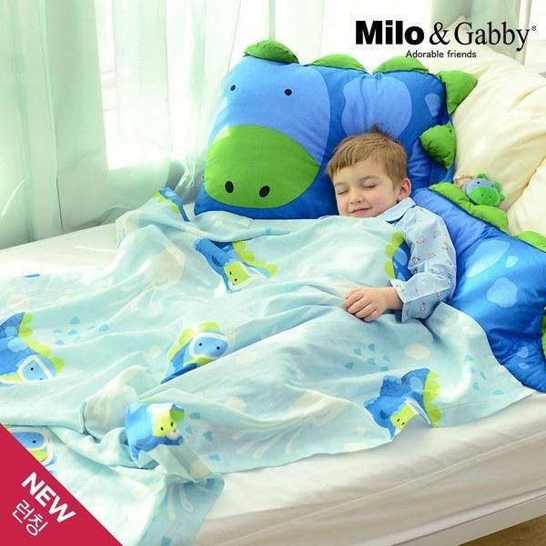 Milo&Gabby 動物好朋友-超透涼LINEN空氣毯-盛夏海洋限量版(Dylan恐龍)