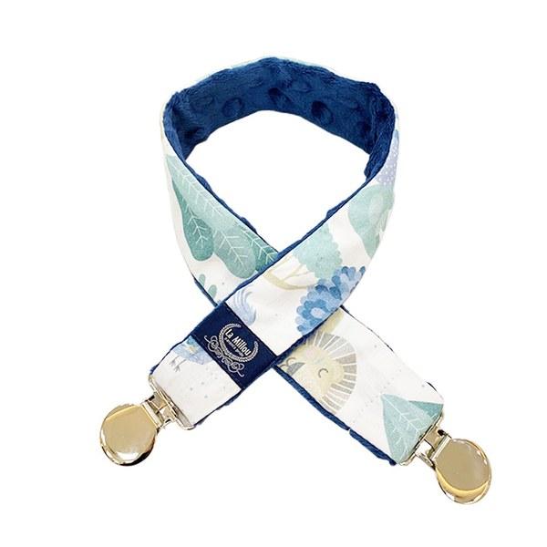 La Millou 豆豆多功能防掉夾(50cm)-動物探險隊(藍底)-勇氣海軍藍