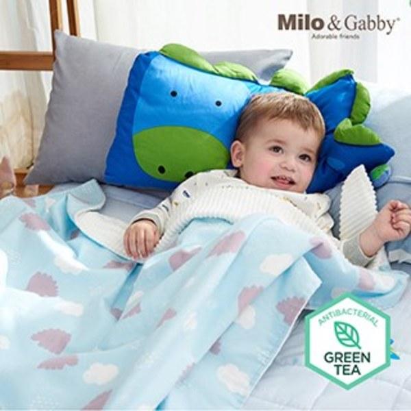 Milo & Gabby 動物好朋友-雙面寶寶棉蓋毯(DYLAN影子)
