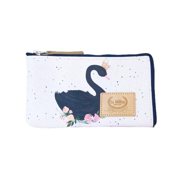 La Millou FEERIA妃芮亞多功能時尚mini手拿包(11*18cm)-芭蕾舞天鵝