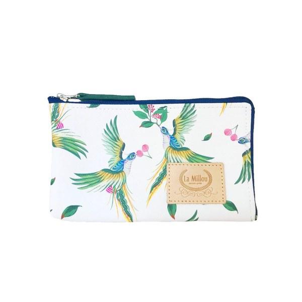 La Millou FEERIA妃芮亞多功能時尚mini手拿包(11*18cm)-天堂鳥花園
