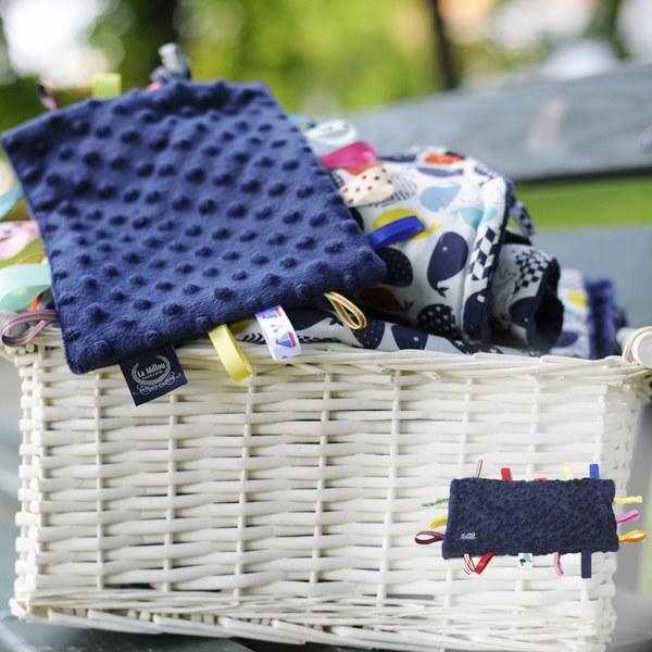 【此商品為預購,預計6/19出貨】La Millou 豆豆安撫巾(勇氣海軍藍)