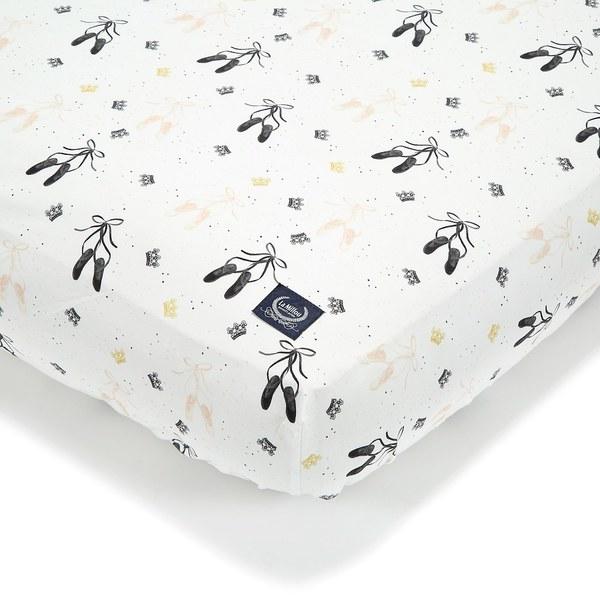 La Millou 拉米洛北歐風_嬰兒床單-芭蕾舞天鵝(70cmx140cm)