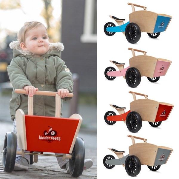 Kinderfeets 美國木製平衡滑步車/教具車-初心者收藏家系列 (四色任選一)