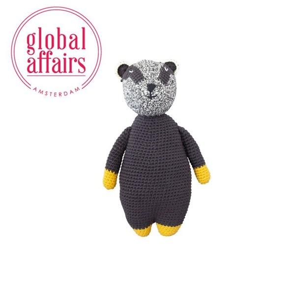 global affairs 童話手工編織安撫玩偶(27cm)-蜜獾強森