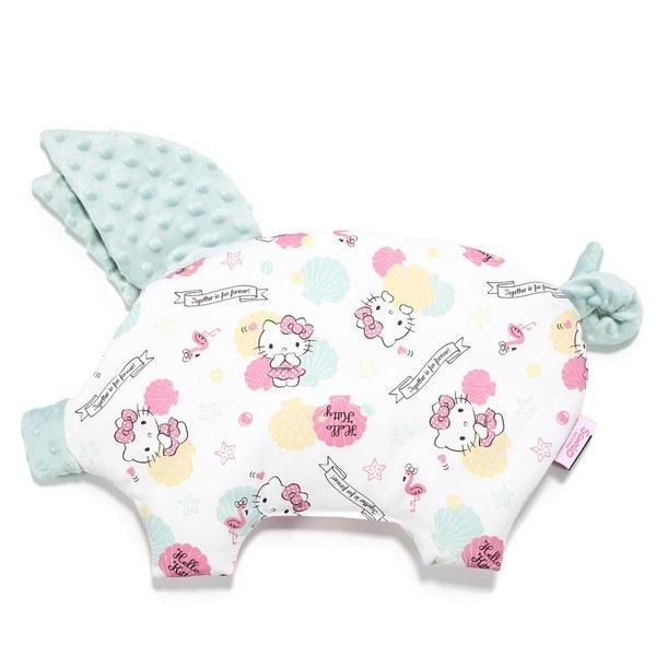 【2020限定聯名款】La Millou 豆豆小豬枕-Hello Kitty貝殼公主篇(煙燻香草綠)