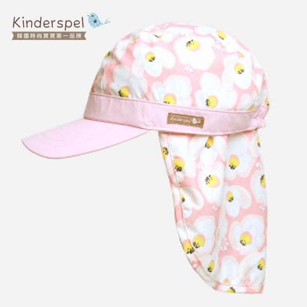 Kinderspel 抗UV‧防曬遮陽鴨舌帽(粉紅蛋苞花)