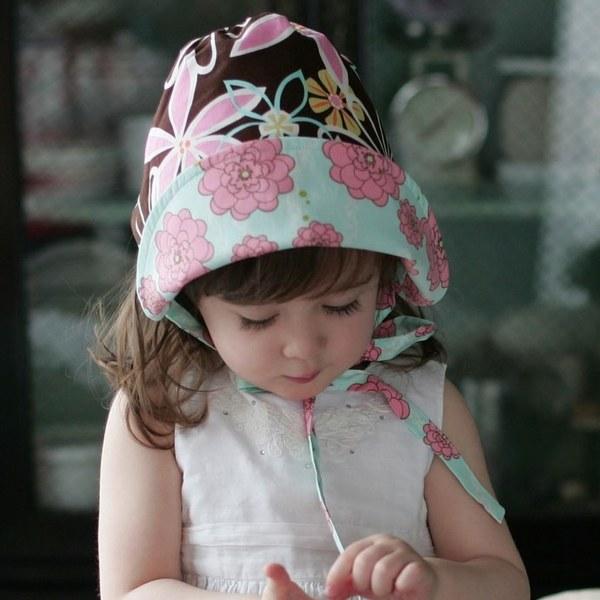Kinderspel 雙面穿戴˙輕柔童話花帽(漂亮棕藍)