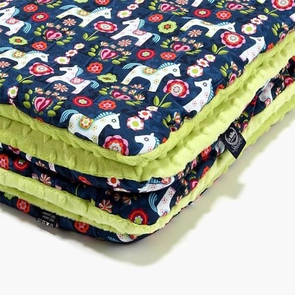 La Millou 暖膚豆豆毯-花漾馬其朵(夏日檸檬綠)