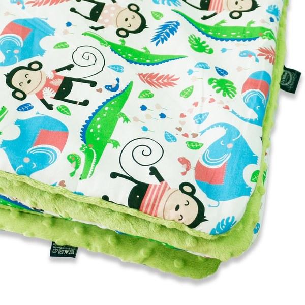 【原售價$2280】La Millou 暖膚豆豆毯-歡樂拉拉猴(香草綠薄荷)