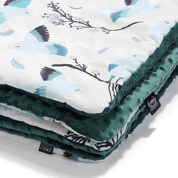 La Millou 暖膚豆豆毯(加大款)-藍色雪鳥(藍綠愛琴海)