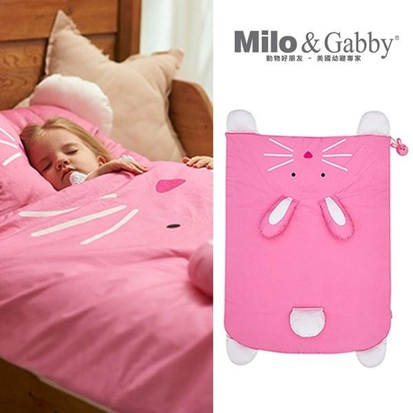 Milo&Gabby 動物好朋友-立體造型暖暖蓋被 (LOLA兔兔)