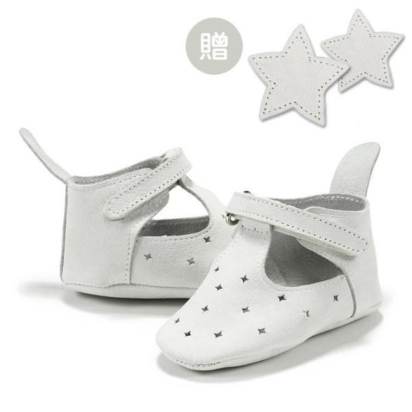 La Millou Moonies頂級羊皮嬰兒鞋禮盒6-11m_魔鬼氈款(沙士)