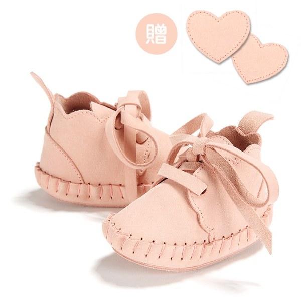 【此商品9/18起陸續出貨】La Millou Moonies頂級羊皮嬰兒鞋禮盒6-11m_綁帶款(草莓)