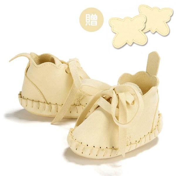 【此商品9/18起陸續出貨】La Millou Moonies頂級羊皮嬰兒鞋禮盒6-11m_綁帶款(鳳梨)