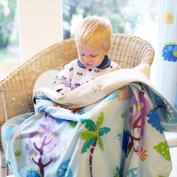Milo & Gabby 動物好朋友-超舒適防蟎天絲四季毛毯(DYLAN恐龍)
