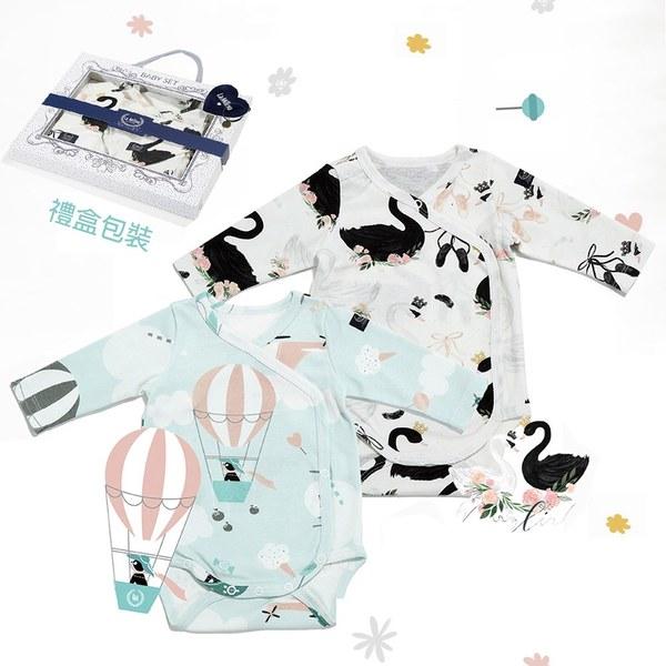La Millou 新生兒彌月禮包屁衣2件組_3-6m-法鬥小甜心+芭蕾舞天鵝