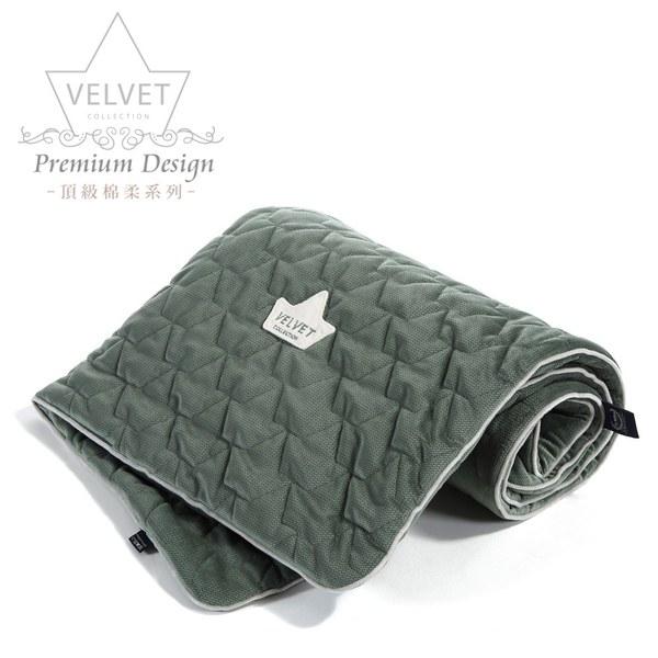 La Millou Velvet頂級棉柔系列-標準款柔柔毯80x100cm(舒柔墨綠)