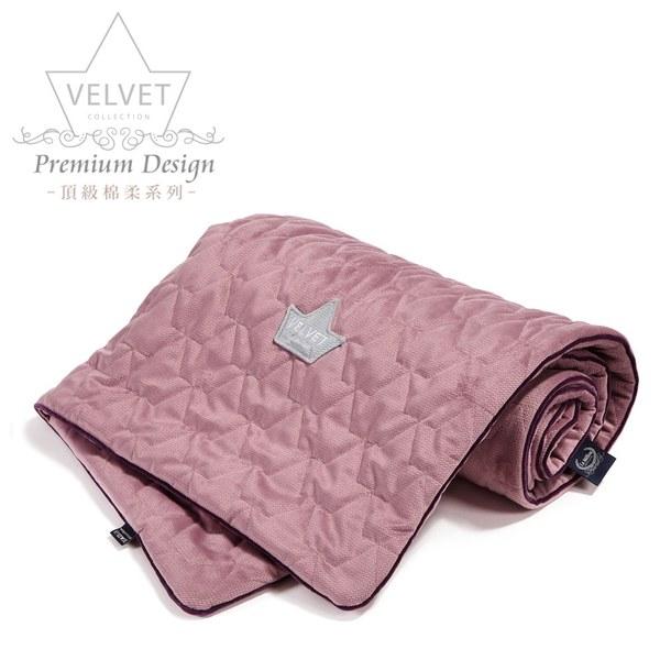 La Millou Velvet頂級棉柔系列-標準款柔柔毯80x100cm(舒柔灰紅)