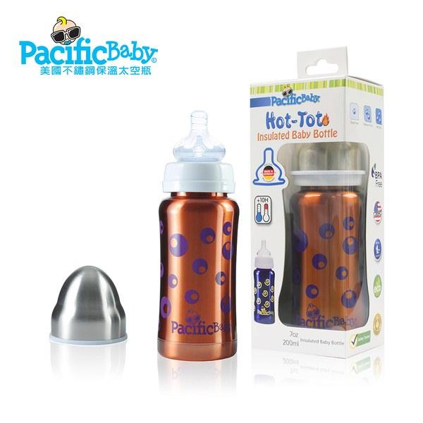 Pacific Baby 美國不鏽鋼保溫太空瓶7oz (自信橘)