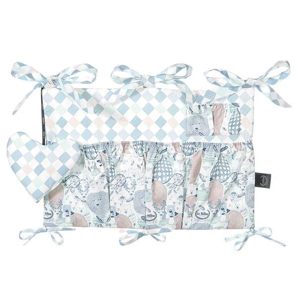 【原售價$1880】La Millou 拉米洛北歐風_嬰兒床頭掛包掛袋(LA MILLOU FAMILY)