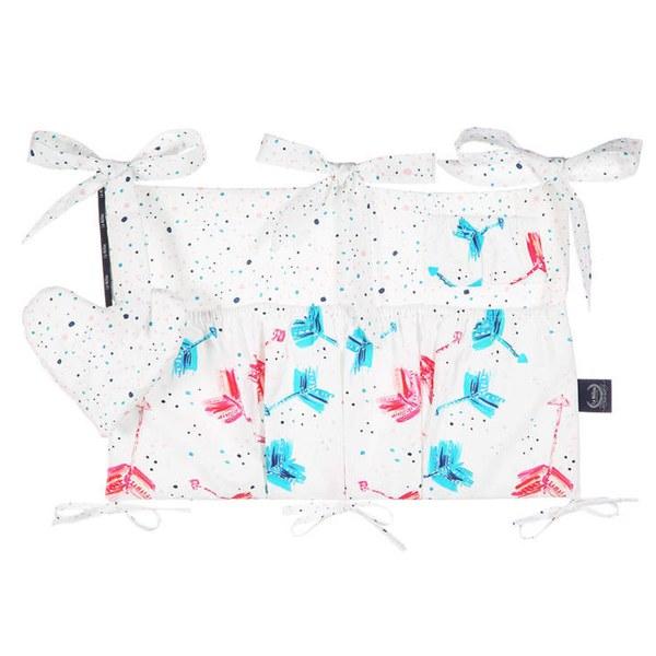 La Millou 拉米洛北歐風_嬰兒床頭掛包掛袋-丘比特之箭(炫彩)